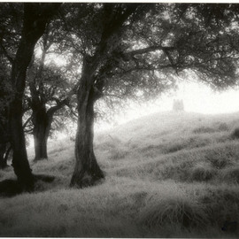 Pamela Theodotou: 'Avalon', 2007 Silver Gelatin Photograph, Ethereal. Artist Description:  Infrared B& W Image, Glastonbury Tor, England ...