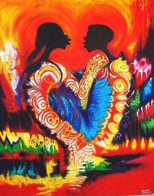 Artist: Egunlae Olumide - Title: I love you - Medium: Oil Painting - Year: 2013