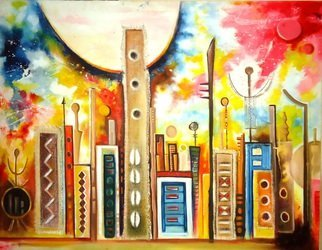 Egunlae Olumide Artwork banjul landscape, 2012 banjul landscape, Abstract
