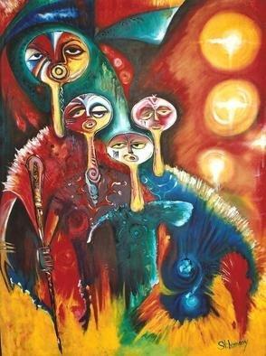 Artist: Egunlae Olumide - Title: the refugee - Medium: Oil Painting - Year: 2012