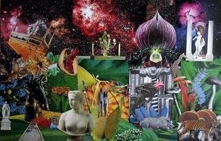 Collage by Andrew Mclaughlin titled: Acid Eden, created in 2006