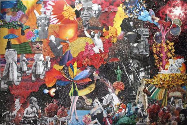 Andrew Mclaughlin  'Enlightenment Of Bob Dylan ', created in 2006, Original Collage.