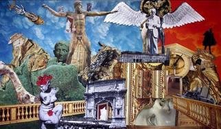 Collage by Andrew Mclaughlin titled: Heaven and Hell, created in 2006