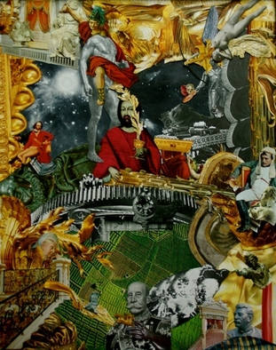 Collage by Andrew Mclaughlin titled: Iscariot Showers and the Second Coming of the Last Supper, 2011