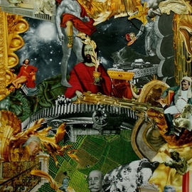 Andrew Mclaughlin Artwork Iscariot Showers and the Second Coming of the Last Supper, 2011 Collage, Surrealism