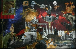 Collage by Andrew Mclaughlin titled: The Victorian Opium Eater and the Coming Century, created in 2011