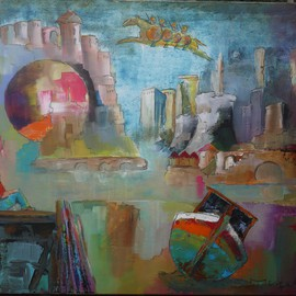 Thierry Merget: 'Le cheval Bayard 1', 2016 Acrylic Painting, Surrealism. Artist Description:        horses, liberti? 1/2, cheval de troie, grafity, , bridge, chess child, boat, tower, balloon, centrale nuclear,                          blue horsemen, tower, travel, bridge, forest, books, balloon, horse, chess, babel, window, factory, child, girl, boat, history, red horse, castle, babel, bridge, stair, ,                      chess, tower, tree, forest, miting, dialogue, book, reader, woman, girl, dream, ...