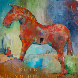 Thierry Merget Artwork Le cheval de Troie 1, 2015 Acrylic Painting, Surrealism