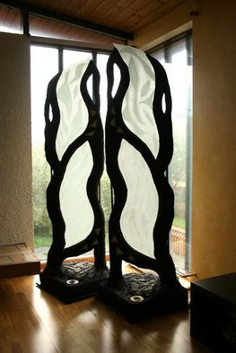 Thorhildur Kristjansdottir Artwork Pillars of freedom, 2005 Mixed Media Sculpture, Peace