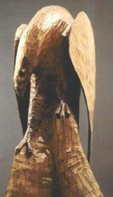 Wildlife Wood Sculpture by Thom Loveless Title: eagle, created in 2005