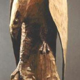 Thom Loveless Artwork eagle, 2005 Wood Sculpture, Wildlife