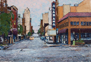 Chris Gould Artwork Alabama Theater, 2008 Oil Painting, Landscape