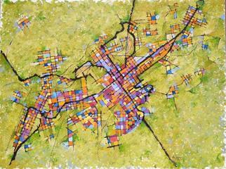 Artist: Chris Gould - Title: Birmingham - Medium: Oil Painting - Year: 2014