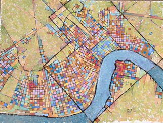 Artist: Chris Gould - Title: New Orleans - Medium: Oil Painting - Year: 2014