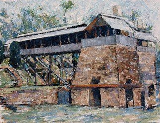 Chris Gould: 'Tannehill Ironworks', 2015 Oil Painting, undecided.