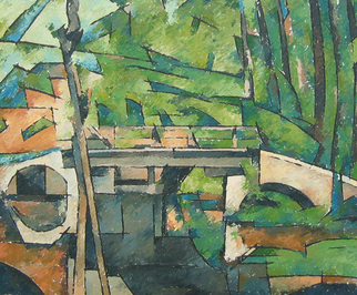Chris Gould Artwork The Bridge at Maincy, 2006 Oil Painting, Landscape