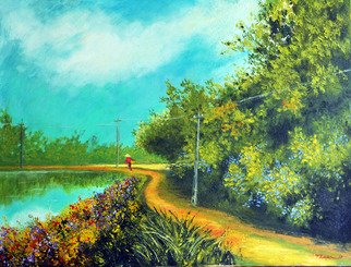 Artist: Nguyen Huu Thuan - Title: Countryside - Medium: Oil Painting - Year: 2013