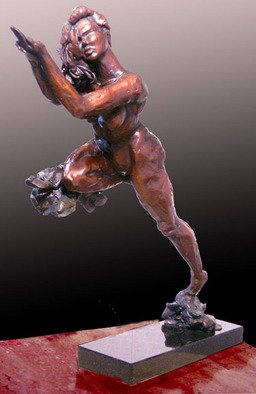 Michael Tieman: 'Behold the Gift', 2010 Bronze Sculpture, Figurative.  Figurative   ...
