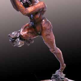 Michael Tieman: 'Behold the Gift', 2010 Bronze Sculpture, Figurative. Artist Description:  Figurative   ...