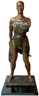 Michael Tieman: 'Courage', 2009 Bronze Sculpture, Figurative.  A sculpture standing in tribute to those who have, who are, and who will battle Cancer.Purchase price includes a donation to Cancer Support Services.  ...