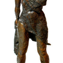 Michael Tieman: 'Courage', 2009 Bronze Sculpture, Figurative. Artist Description:  A sculpture standing in tribute to those who have, who are, and who will battle Cancer.Purchase price includes a donation to Cancer Support Services.  ...