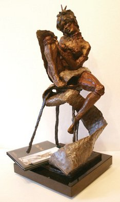 Bronze Sculpture by Michael Tieman titled: The Poet, 2010