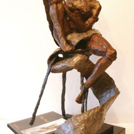 Michael Tieman: 'The Poet', 2010 Bronze Sculpture, Figurative. Artist Description: