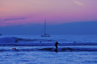 Artist: Tiger Lily Jones - Title: Surfing in Twilight - Medium: Color Photograph - Year: 2010