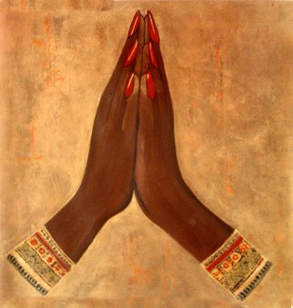 Sabira Manek: 'namaste', 2010 Mixed Media, Hindu.  namaste, prayer ...