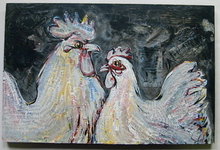 - artwork Two_Absolutes,_Rooster_and_Hen-1236220210.jpg - 2008, Painting Acrylic, Love