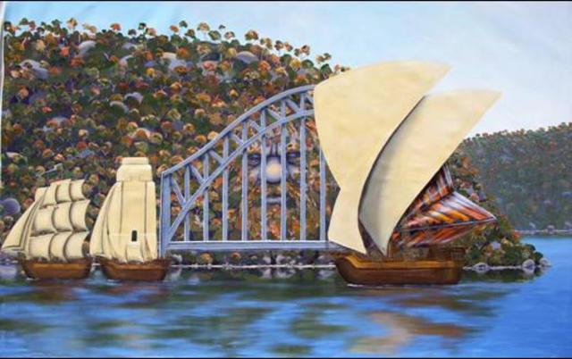 Tim guider sydney 1788 2000 acrylic painting
