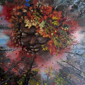 Pamela Benjamin: 'Autumn Femi', 2010 Oil Painting, Surrealism.  This painting is spiritually and seasonally inspired. ...