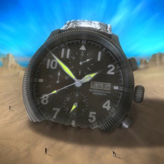 Mike Mcglothlen: 'BIG TIME', 2010 Digital Art, Surrealism.  time, clock, watch, sand, birds, photographer, dali, surreal, fine art, square, desert, sign, branches, hands, hours, minutes, seconds, knobs, dial, band,       ...