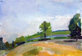 Timothy King: 'Afton Prairie', 2005 Tempera Painting, Abstract Landscape.