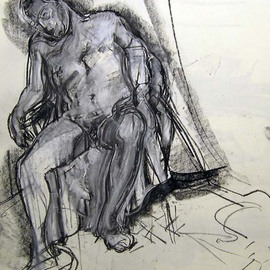 Male Nude Sleeping in ChaiR By Timothy King