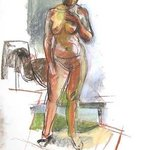 Margaret Standing Nude  By Timothy King