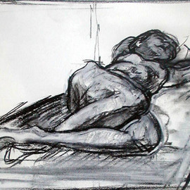 Model reclining By Timothy King