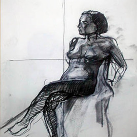 Model seated By Timothy King