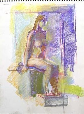 Timothy King Artwork Nude on Model Box, 2006 Pastel, Nudes