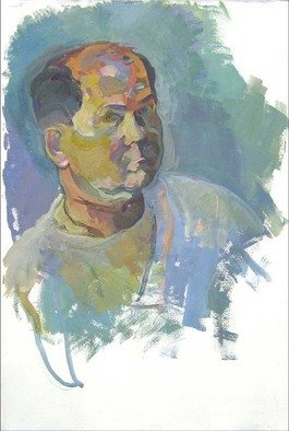 Timothy King Artwork Self Portrait, 2006 Tempera Painting, Figurative