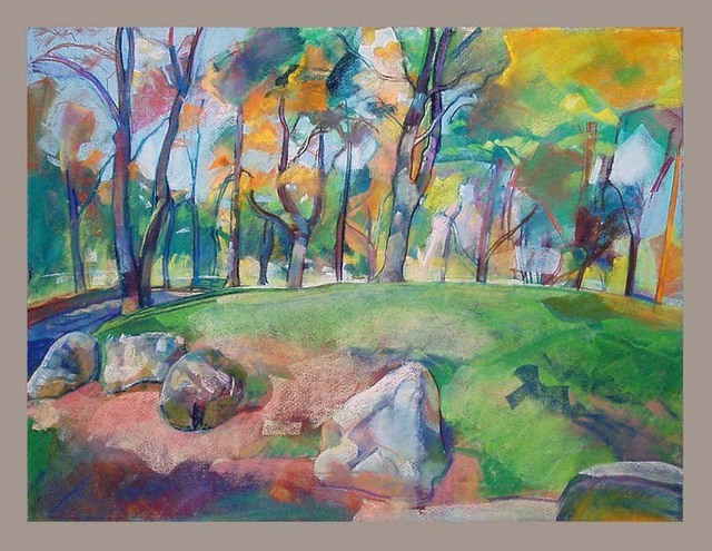 Timothy King  'Wing Park Out Look', created in 2007, Original Pastel Oil.