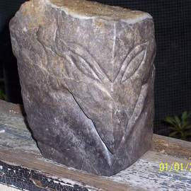 Timmos Norton: 'YARDBIRD', 2007 Stone Sculpture, Abstract Figurative. Artist Description:  Granite with a frosting of quartz crystals on top. ...