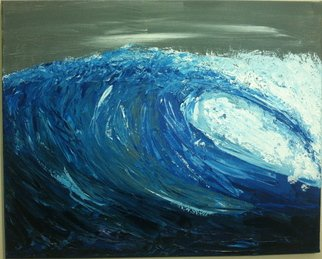Acrylic Painting by Timothy Sword titled: Barreling Wave, created in 2014