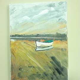 Timothy Sword: 'Isolation ', 2014 Acrylic Painting, Boating. Artist Description:  forgotten boat  ...