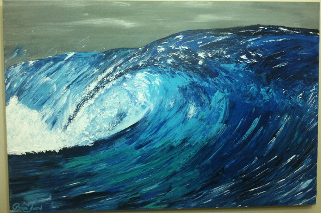 Timothy Sword: Unridden wave , 2014 Acrylic Painting