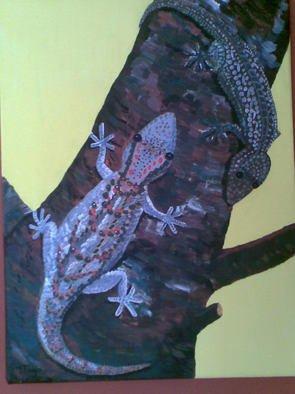 Tina Noya Artwork Geckos, 2011 Acrylic Painting, Animals