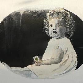 Tina Noya: 'Steves Mom', 2011 Acrylic Painting, Children. Artist Description:  Commission, painting from a photograph.Acrylic on canvas, 50x40cm.   ...