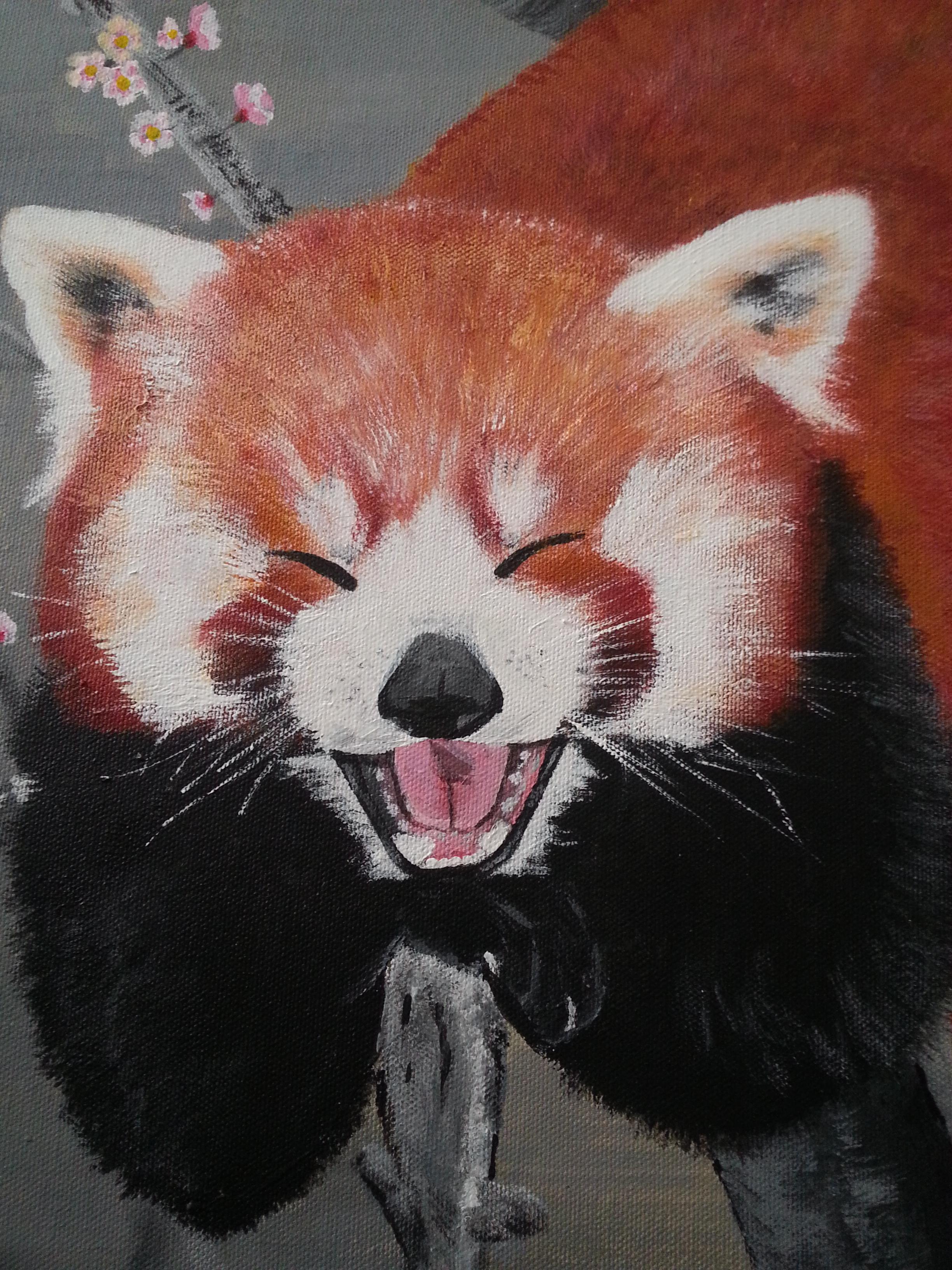 tina beck artwork  red panda