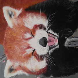 Tina Beck Artwork Red panda, 2014 Acrylic Painting, Animals