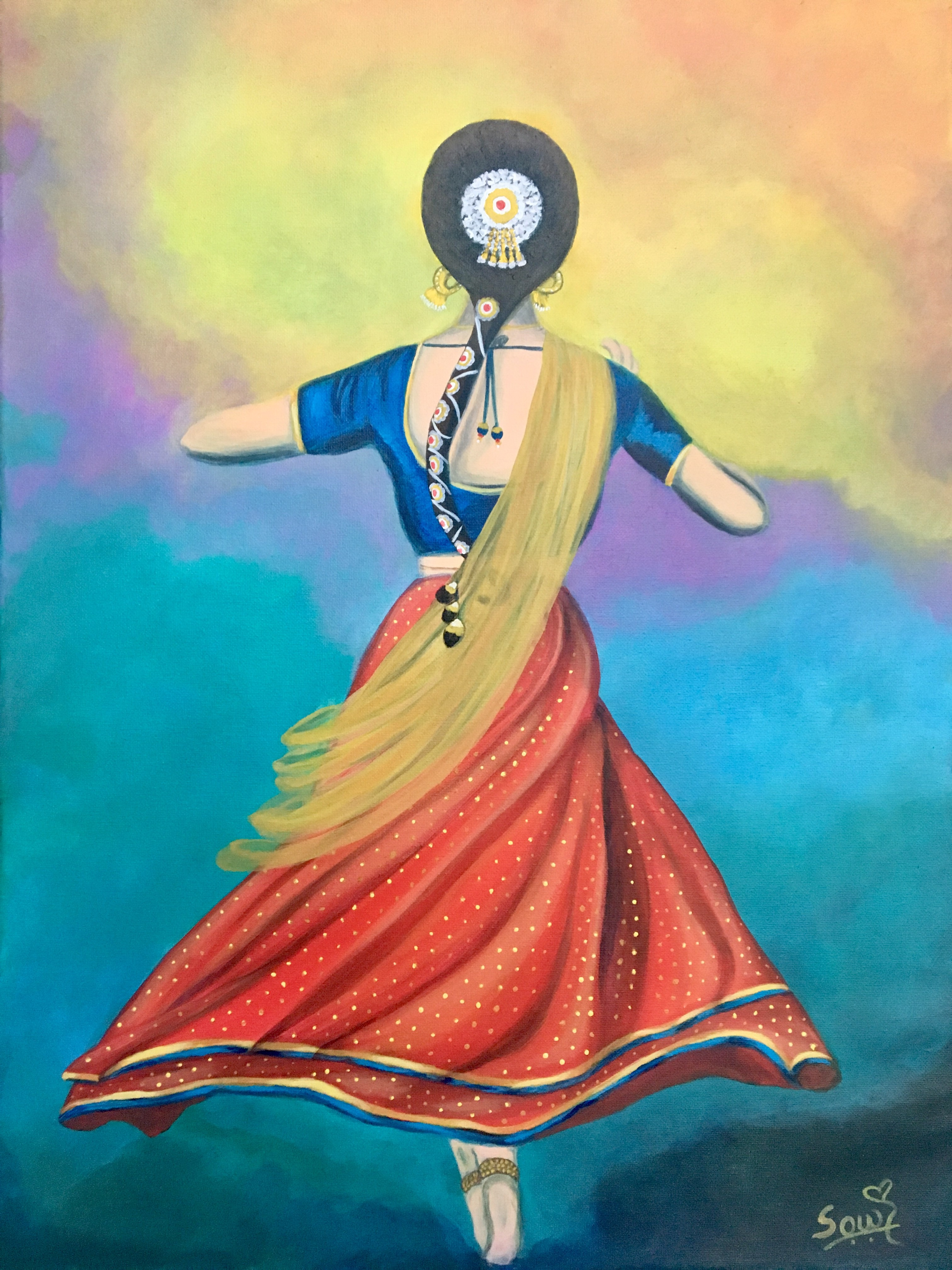 The Joy Of Dance Acrylic Painting By Sowjanya Tirunagari Absolutearts Com